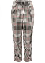 Topshop Check high waisted trousers
