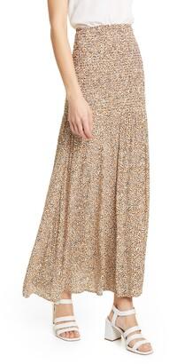 Rodebjer Hayly Spot Print Smocked Waist Maxi Skirt