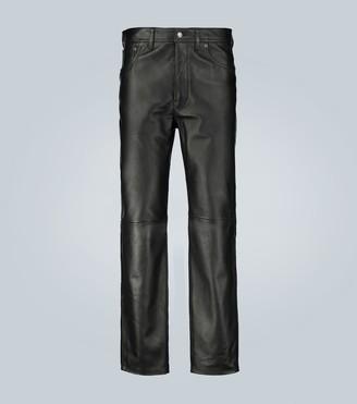 Acne Studios Lancelot straight-leg leather pants