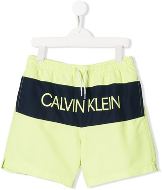 Calvin Klein Kids TEEN logo swimming shorts
