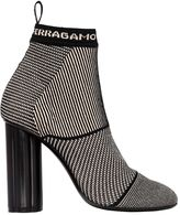 Salvatore Ferragamo 105mm Capo X5 Sock Knit Boots