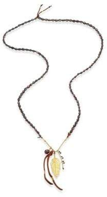 Chan Luu Peacock Blue& Brown Pearl Necklace