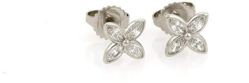 Tiffany & Co. Platinum & 0.40ct Diamonds Floral Stud Earrings