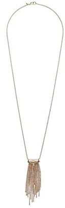 Alexis Bittar Spiked Fringe Long Pendant (10K Gold/Rhodium) Necklace