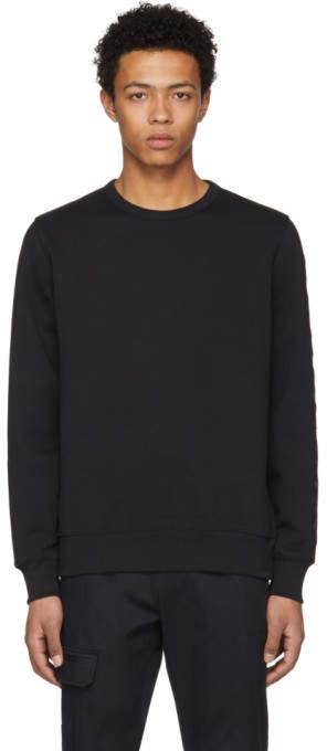 Burberry Black Embroidered Kentley Sweatshirt