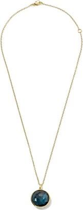 Ippolita 18kt yellow gold Lollipop London blue topaz medium pendant necklace