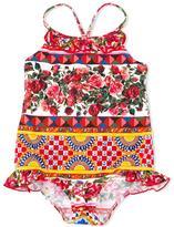 Dolce & Gabbana Mambo print swimsuit - kids - Polyamide/Spandex/Elastane - 24 mth