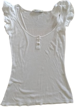 Maison Scotch White Cotton Top for Women