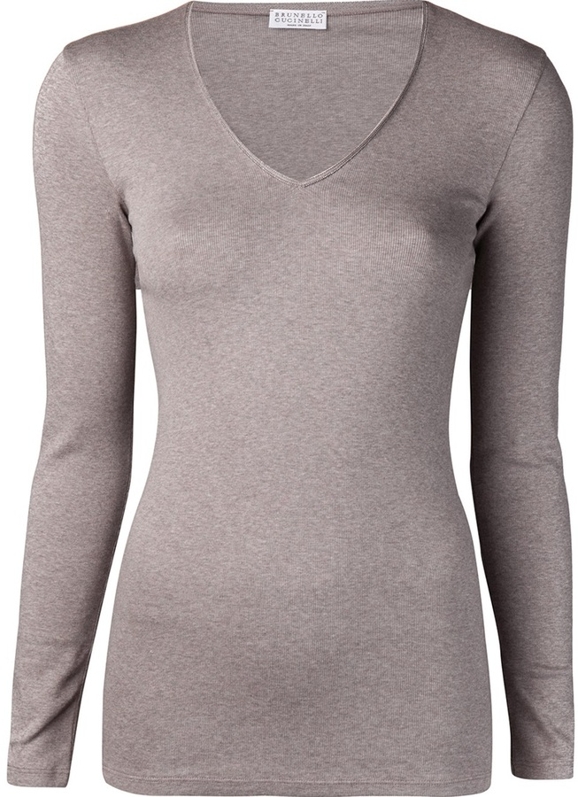 Brunello Cucinelli embroidered bead t-shirt