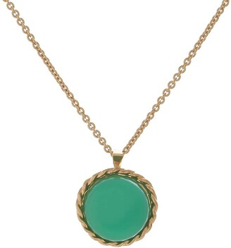 Harry Rocks Love Charm Layering Necklace Gold Chrysophrase
