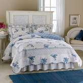 Asstd National Brand Rose Blossom Blue Quilt