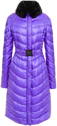 Emilio Pucci Faux Fur-trimmed Quilted Shell Coat