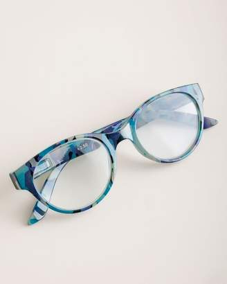 Chico's Chicos Blue Camouflage-Print Reading Glasses