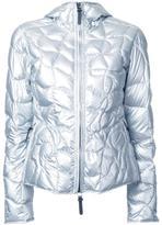 Kru - metallic (Grey) hooded down jacket - women - Polyester - XS