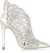 Loriblu White Satin Jewel Bootie