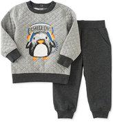 Kids Headquarters 2-Pc. Quilted Penguin Sweatshirt & Pants Set, Baby Boys (0-24 months)