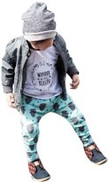 Susenstone New Kids Boys Girls Buffalo Print Harem Pants Children Clothes