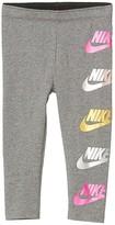 Nike Futura Shine Leggings (Toddler) (Carbon Heather) Girl's Casual Pants