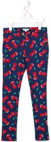 Little Marc Jacobs cherry print trousers - kids - Cotton/Spandex/Elastane - 12 yrs