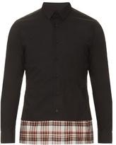 Raf Simons Optical Double-hem Cotton-poplin Shirt