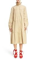 J.W.Anderson Women's Multi Tier Washed Cotton Coat