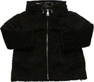 Ermanno Scervino Hooded Faux Shearling Down Jacket