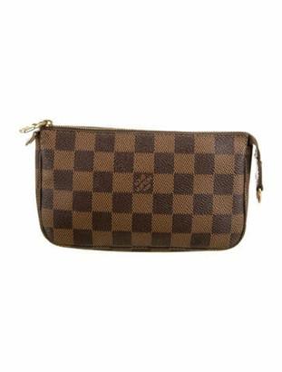 Louis Vuitton Damier Ebene Mini Pochette Accessoires Brown