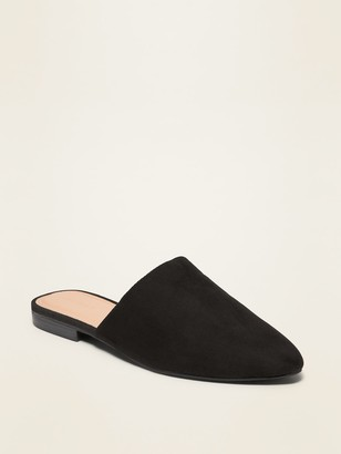 Old Navy Faux-Suede Almond-Toe Mule Flats for Women