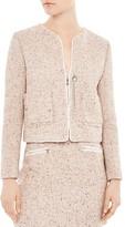 Sandro Supreme Mélange-Knit Jacket