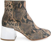 MM6 MAISON MARGIELA snakeskin effect ankle boots