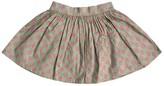 Sophie Catalou Dove Grey Dot Printed Skirt (Toddler, Little Girls, & Big Girls)