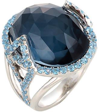Graziela Gems Hematite Effect Silver 16.50 Ct. Tw. Gemstone Ring