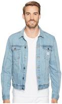 Calvin Klein Jeans Light Wash Trucker Jacket Men's Clothing