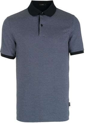 HUGO BOSS Geometric-Pattern Short-Sleeve Polo Shirt