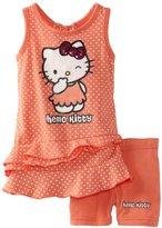 Hello Kitty Girl's Dress & Legging Set, Fusion Coral, 4T US