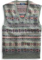 Ralph Lauren Fair Isle Wool-Blend Vest