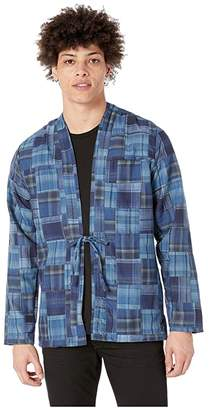 Naked & Famous Denim Kimono Shirt (Boro Patchwork/Blue) Men's Clothing