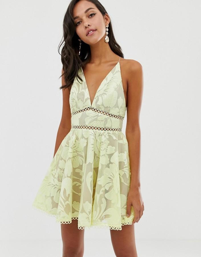 Asos Design DESIGN cami prom midi dress with sequin embellishment