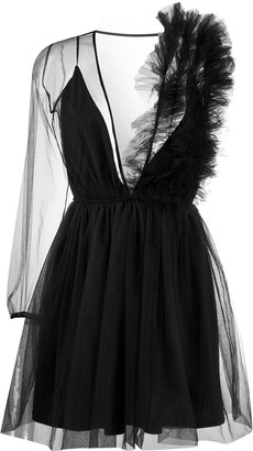 Alchemy Asymmetric Sheer Dress