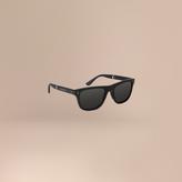Burberry Folding Rectangular Frame Sunglasses