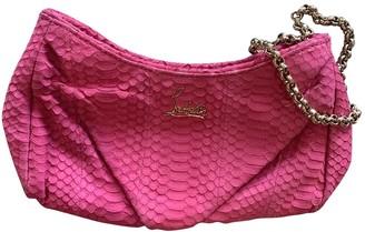 Christian Louboutin Pink Water snake Handbags