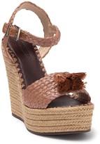 Schutz Diara Woven Espadrille Wedge Sandal
