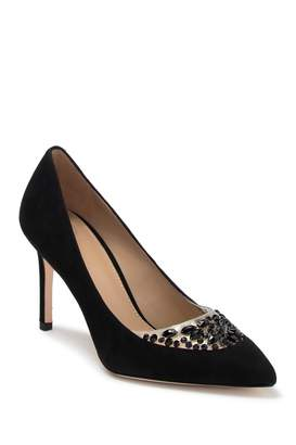 Tory Burch Delphine Jewel Embellished Pointed Toe Pump
