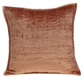 Parkland Collection Delphi Transitional Orange Solid Quilted Pillow Cover