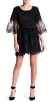 Romeo & Juliet Couture Sheer Sleeve Embroidered Dress