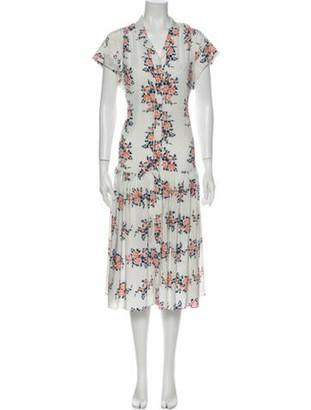 Veronica Beard Silk Long Dress White