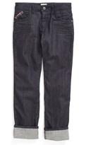 Armani Junior Boy's Cuffed Straight Leg Jeans