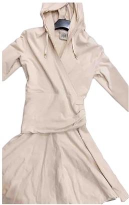Jijil Beige Cotton - elasthane Dress for Women