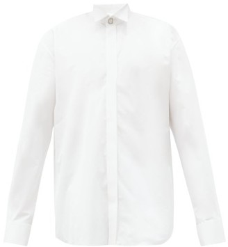 Balenciaga Cufflink-embellished Cotton-poplin Shirt - White