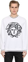 Versace Paint Effect Medusa Cotton Sweatshirt